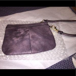 Wilson's Leather's Purple Wristlet